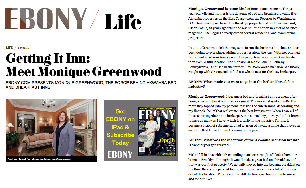 Ebony Life – Getting It Inn: Meet Monique Greenwood